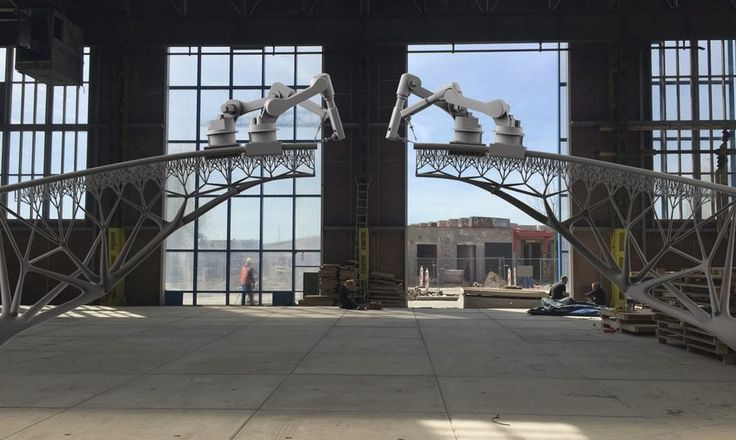 3-D printing robots will build bridge in Amsterdam