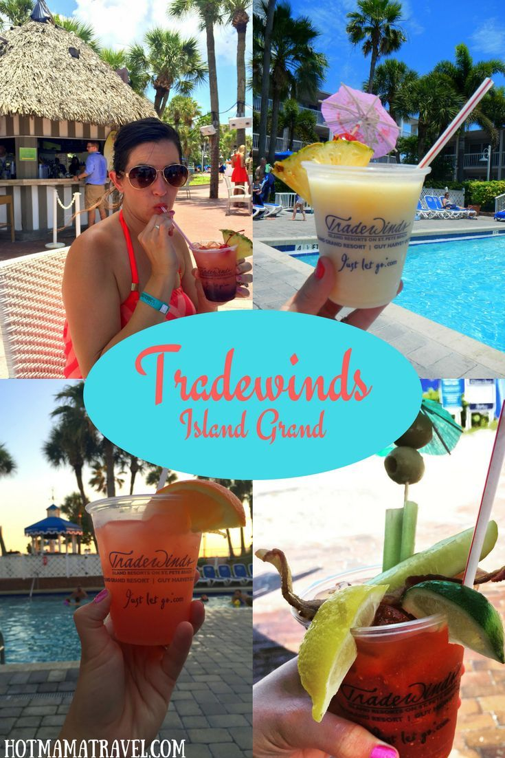 Drop your bags at Tradewinds Island Grand in St. Pete Beach, Florida.