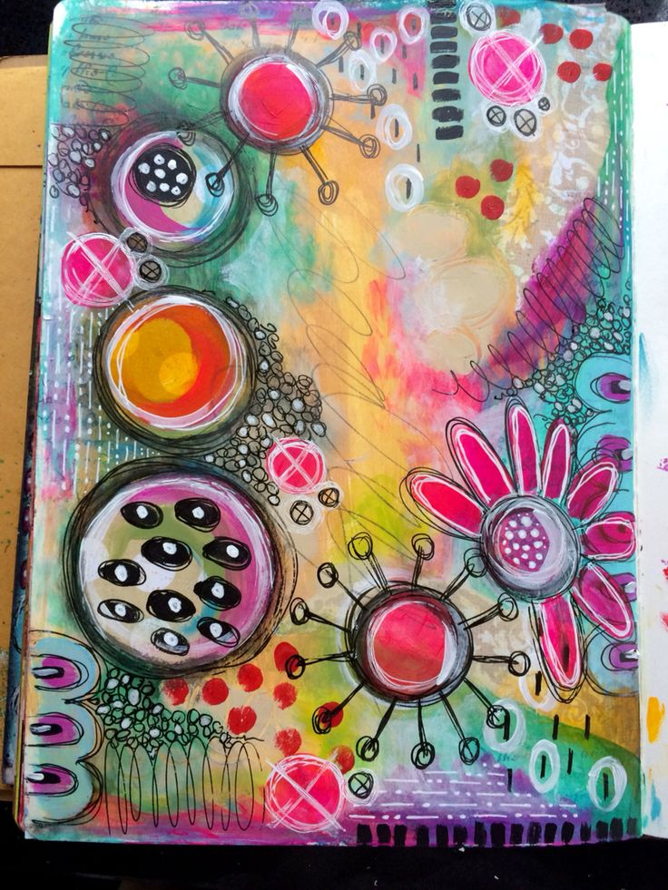 Random play art journal page                                                                                                                                                                                 Plus