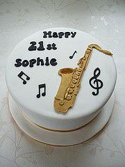 Saxophone cake