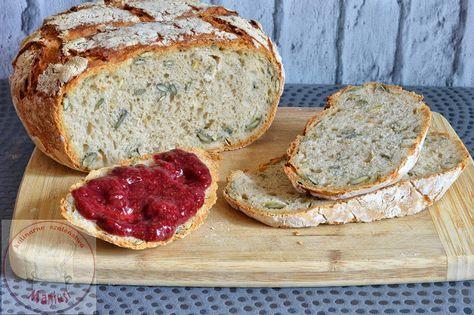 Szybki chleb drożdżowy z pestkami dyni - czerwcowa piekarnia - Kulinarna Maniusia - blog kulinarny