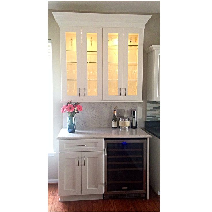 Kitchen Bar Cabinets: Dry Bar Added To Kitchen Cabinets