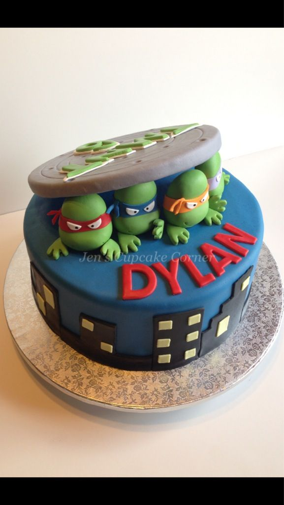 Roman and Jude would love this! TMNT cake. Turtle power!