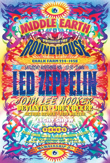 – Led Zeppelin - Psychedelic music concert poster