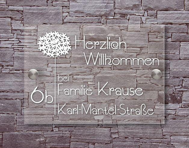 Tür- & Namensschilder - *PusteSTERN-TRÄUMERLE*-Acryl & Edelstahl Tü... - ein Designerstück von heavenlygoods bei DaWanda