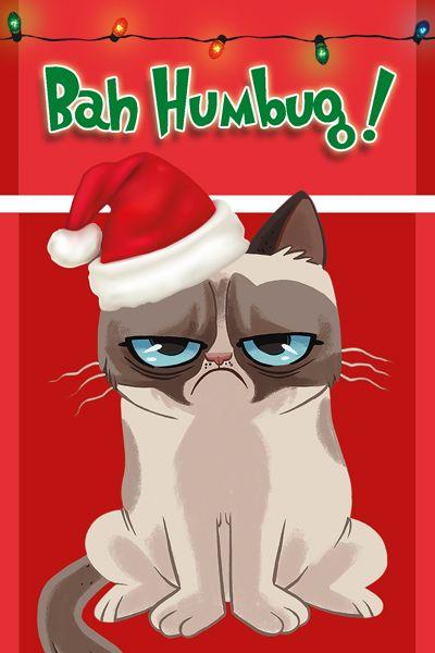 "Grumpy Cat Illustrated ""Bah Humbug!"" Christmas Cards"