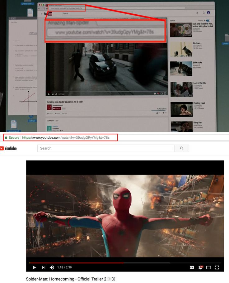 In Spider-Man: Homecoming, the URL of the video that Peter watches matches the URL of a Spider-Man: Homecoming trailer.