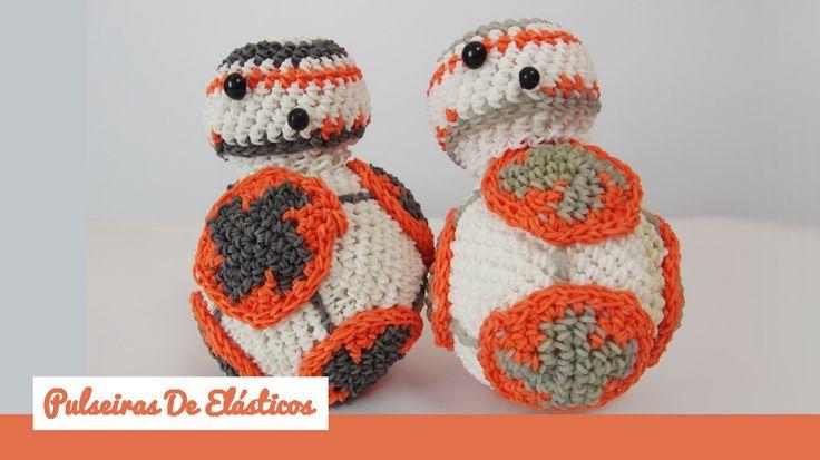 Aprenda a fazer o BB-8 em elásticos ~ Pulseiras de Elásticos