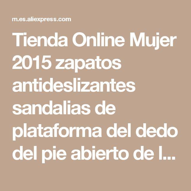 Tienda Online Mujer 2015 zapatos antideslizantes sandalias de plataforma del dedo del pie abierto de la cuña sandalias mujeres de moda hebilla sandalia sapato feminino cuñas | Aliexpress móvil