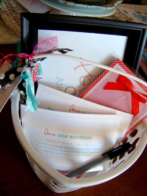 Activity Day Idea about loving one another (love note basket)