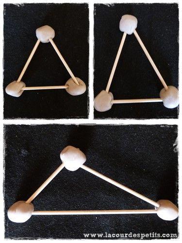 Apprendre les formes géométriques en maternelle, avec de la pâte à modeler  La cour des petits