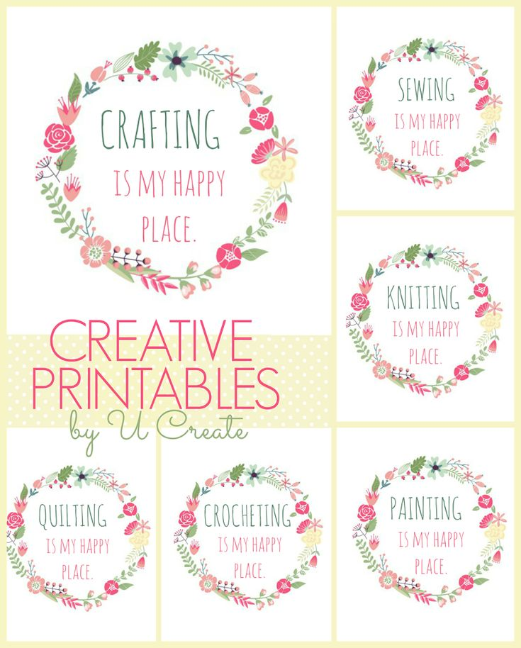 We all have a happy place right?! I thought it would be a fun printable to do a printable for the crafters. Find Crafting, Sewing, Painting, Stitching, Knitting, and Crocheting versions… CLICK THE FOLLOWING LINKS FOR PRINTABLES… Crafting Sewing Knitting Crocheting Quilting Painting Stitching POST BY: