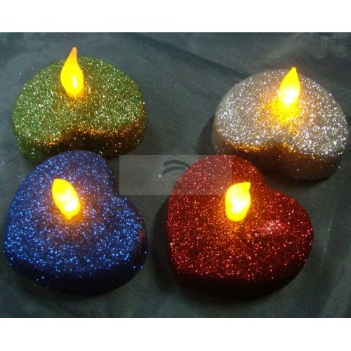 LED Candle Tea Light (Heart Shape,AA Battery Operated, Flickering, Tea Candle) [CAN-HRT-02AA] - USD0.59 : ImmiTrade Global