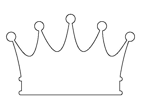 Crown pattern. Use the printable outline for crafts, creating stencils, scrapbooking, and more. Free PDF template to download and print at http://patternuniverse.com/download/crown-pattern/