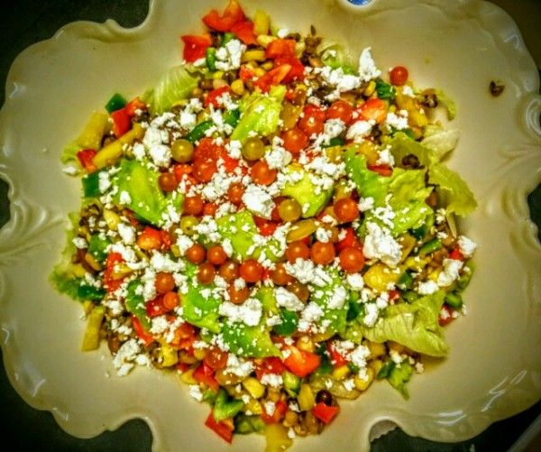 Seven-Bean Five-Layer Salad with a Tangy Lime Dressing