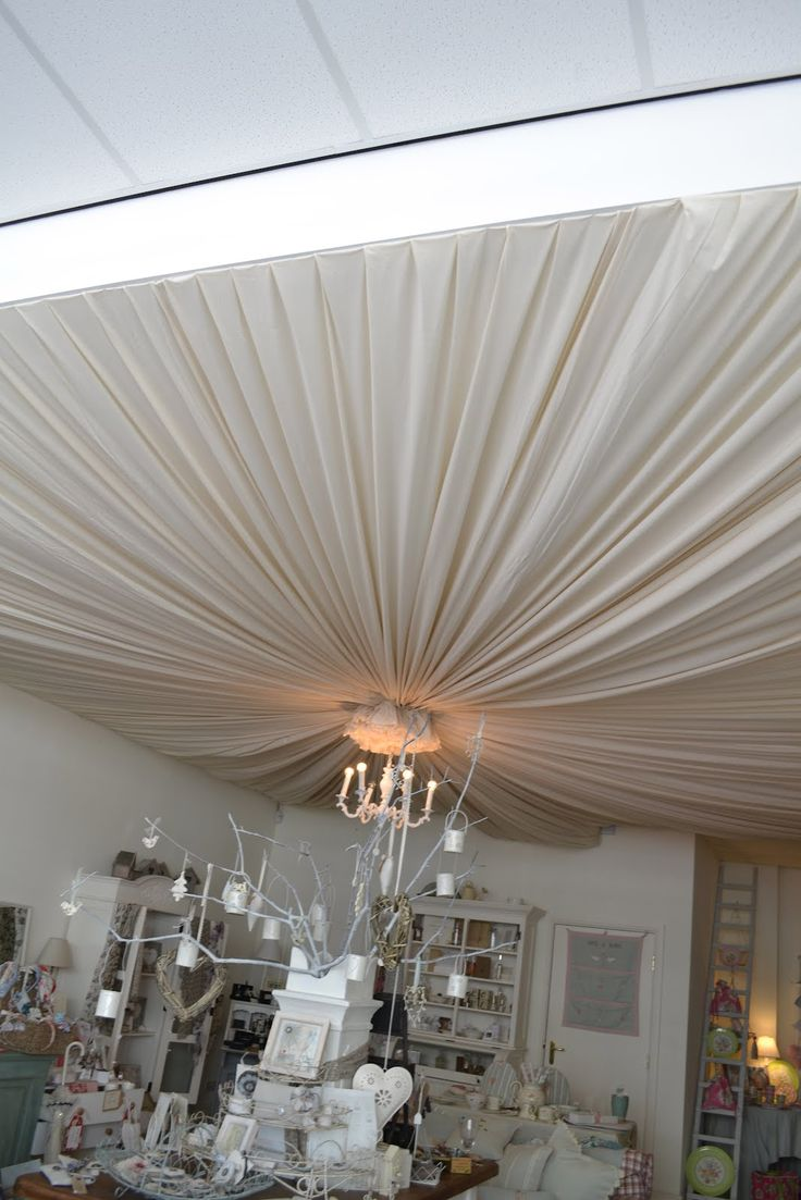 Bedroom ceiling drapes - If I Knew You Were Coming I D Have Baked A Cake Inspiration From Above Fabric Ceiling Pinterest Ceilings Bedroom Ceiling And Inspiration