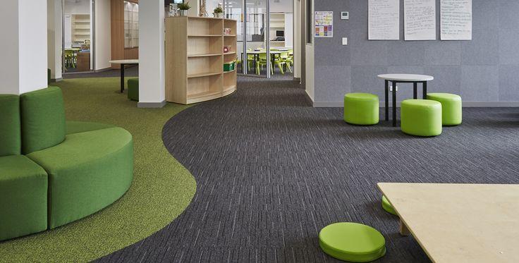 EcoSoft carpet tiles for school environments #carpettile #schoolcarpet