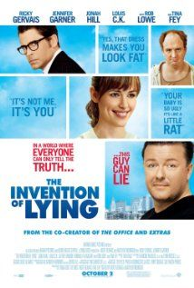 Not my favorite, it was ...just alright. I had high hopes of liking this movie b/c of Jennifer Garner, Tina Fey, and & Jonah Hill, but I won't bother with lying - if channel surfing and this was on, I'd keep on moving.     It is weird to think about a world without little white lies, flatteries, and stories, but I'm so glad I don't live in that place! 7/16/2012