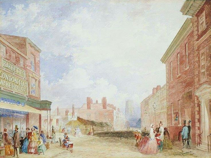 1854 view of Kirkgate by Issac Fountain from Facebook page History of Leeds