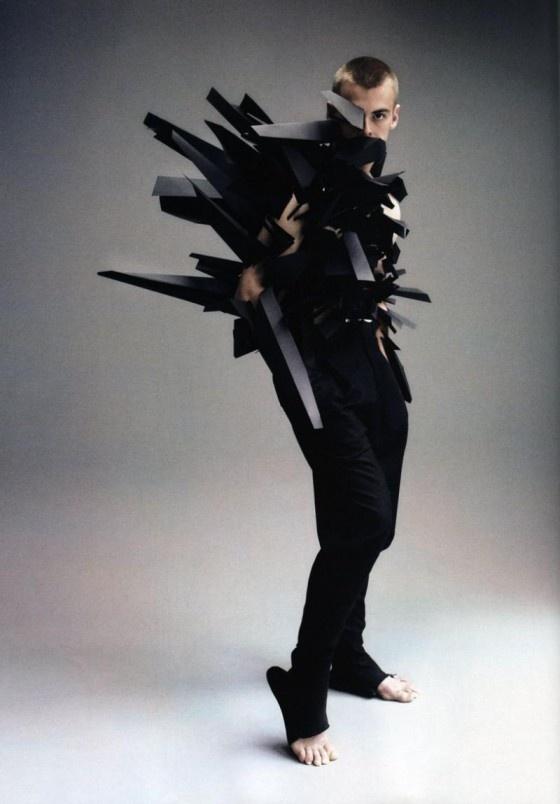futuristic avant garde fashion - shot by Nick Knight - pinned by RokStarroad.com