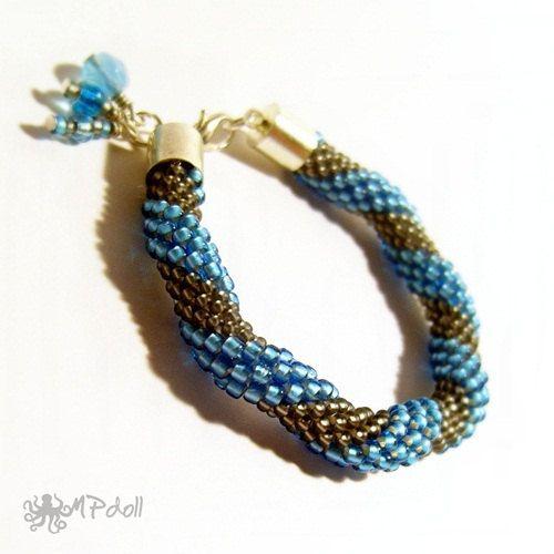 Angel Depression  Bead Crochet Bracelet Crochet Rope Beaded
