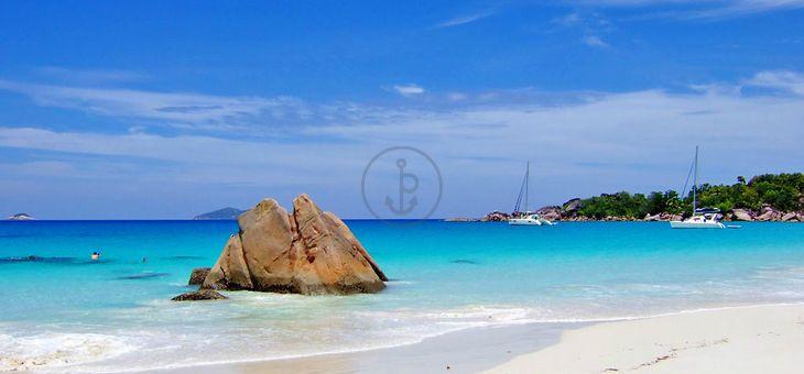 #Vacanze in barca a Vela Sun Odyssey 52.2 Da #Praslin. Itinerario: #Mahe, #BeauVallon, #Glacis, #Seychelles. 5 Cabine, 4 Bagni, 8 Posti Letti, portata massima 15 Persone. Prezzo: 950.00 € a Persona (7 Giorni)!