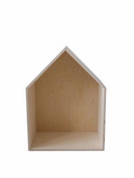 Jeżeli lubisz oryginalne i niebanalne przedmioty, prostotę i minimalizm, ten nowoczesny skandynawski design jest dla ciebie! Półka nadaje się do powieszenia na ścianie lub można ją postawić np. na komodzie lub biurku. Tylnia ścianka domku jest w kolorze miętowym lub naturalnym Dostępne w rozmiarach: big, medium, small.