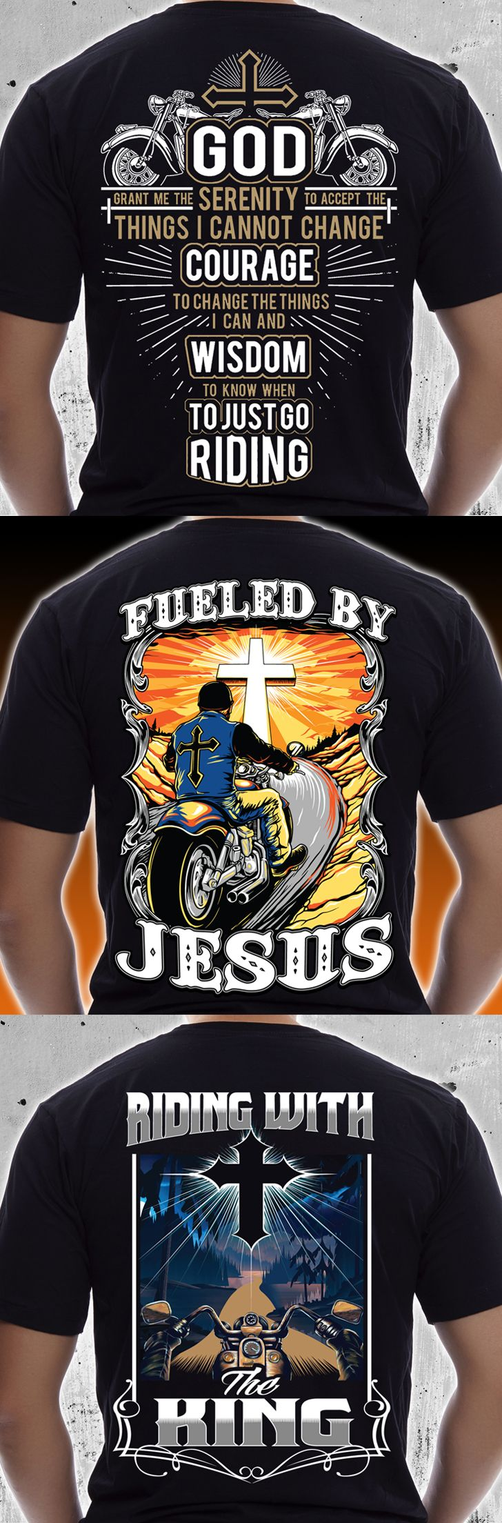 Awesome riding gear for Christian bikers! Check out this collection on t-shirts, hoodies, and more. Great Christmas gifts for bikers or motorcycle lovers.