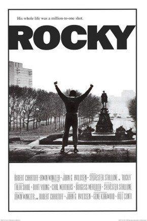 Rocky (1976), com Sylvester Stallone marcou época e eternizou o personagem Rocky Balboa.