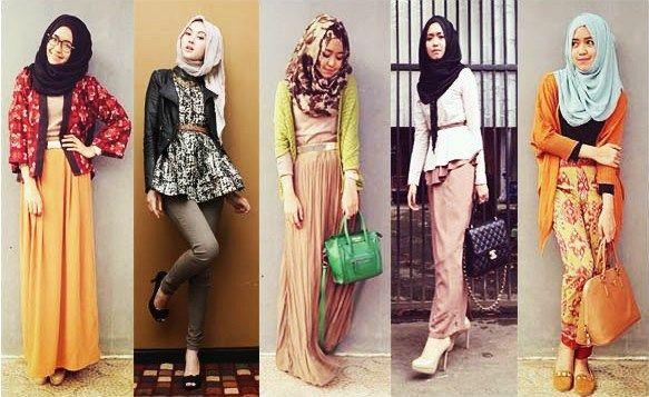 contoh baju muslim modern terbaik model terbaru