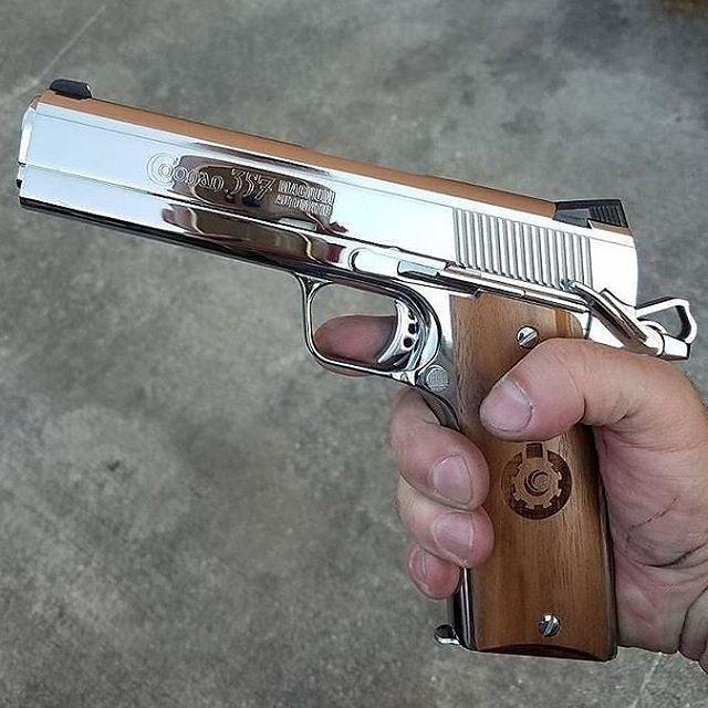 Polished Coonan .357 Magnum 1911