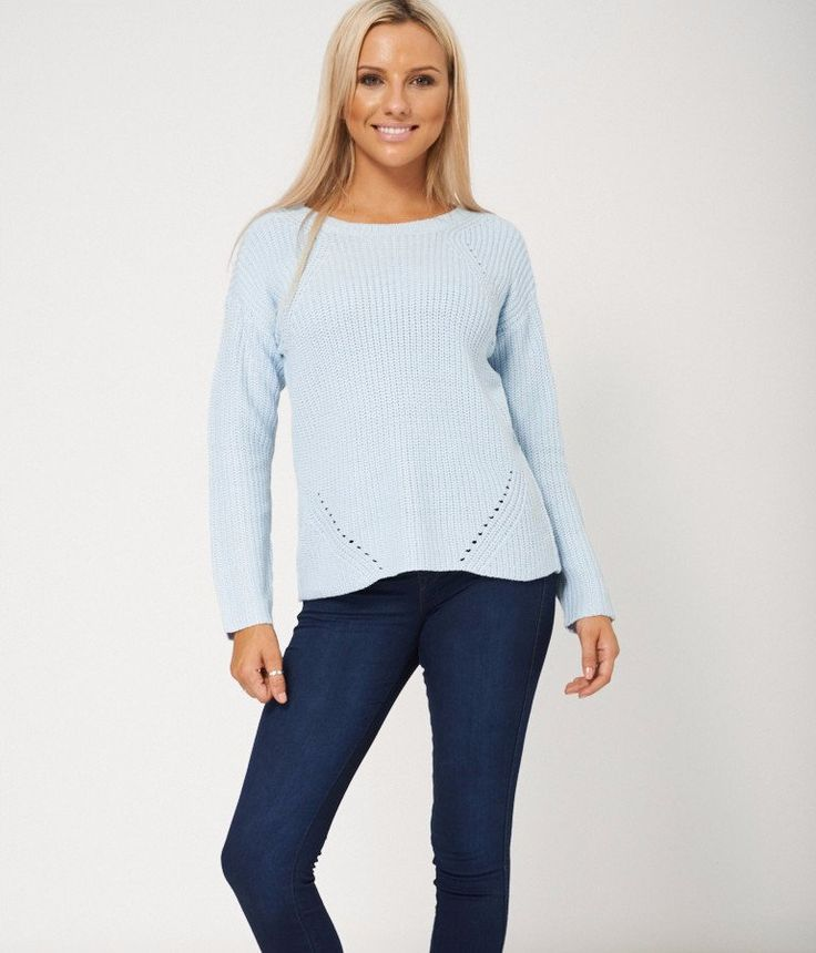 Ladies Chunky Knitted Long Sleeve Jumper