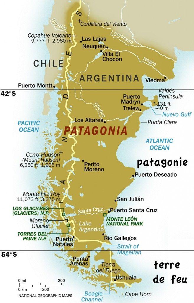 Résultats de recherche d'images pour «patagonie carte»