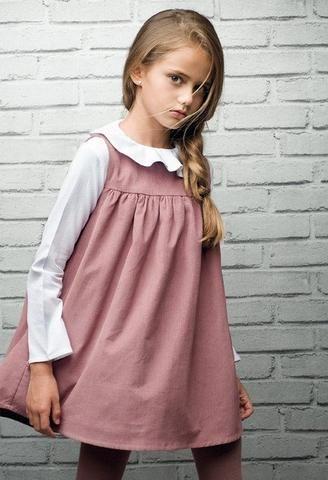 Pichi de pana Rosa-Vestidos niña-KuiniCollection