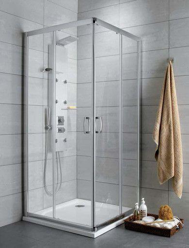 Premium Plus D Radaway kabina prostokątna 1000x800x1900 chrom szkło przejrzyste - 30434-01-01N  http://www.hansloren.pl/kabiny-prysznicowe/Kabiny-prostokatne/RADAWAY