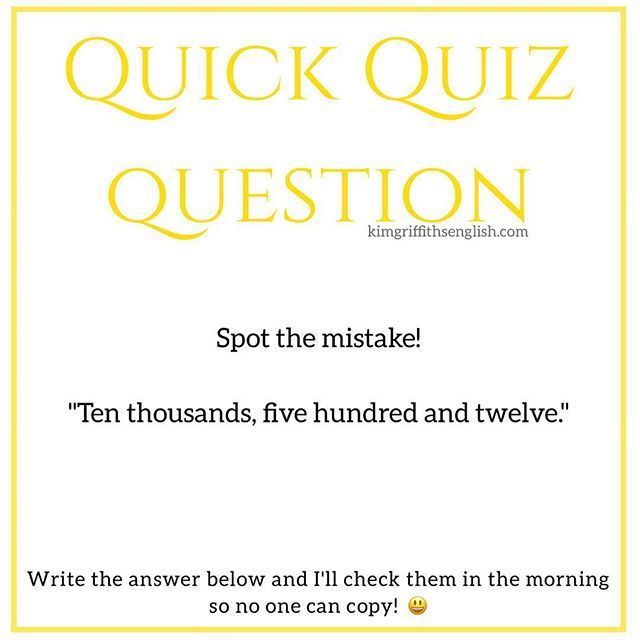 Can you find the mistake? Put your answer in the comments  . . . . . #learnenglish #eslteacher #quickquizquestion #aprendaingles #ingles #grammar #englishblogger #youtuber #inglese #faleingles #anglais #engleski #instaingles #englishblog #englishclass #easyenglish #english #quiznight #instaenglish #teacher #iloveteaching #quiz #englishquiz
