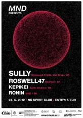 MIDNIGHTDUBS: SULLY (UK) & ROSWELL47 (AT), Nu Spirit Club Bratislava