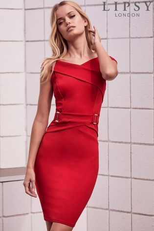 9fe6280385d008 Buy Lipsy Petite Buckle Waist Bodycon Dress from the Next UK online shop
