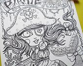 COLORING BOOK Naughty Pirate Mermaids Coloring Book For You to Color SaSSy and Unique Pirate Girls