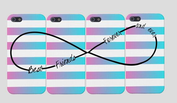 Best Friends Infinity iPhone Case -Infinity Best Friends Iphone Case, Four Case Set,  Best Friends Forever And Ever on Etsy, $46.15 CAD