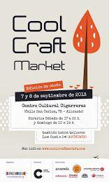 ¡Nueva edición del Cool Craft Market, 7 y 8 de septiembre! Puestos de artesanía, talleres y animación infantil.