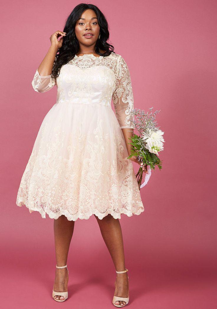 Wedding dresses for short fat brides
