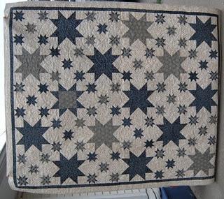 sawtooth winter quilt