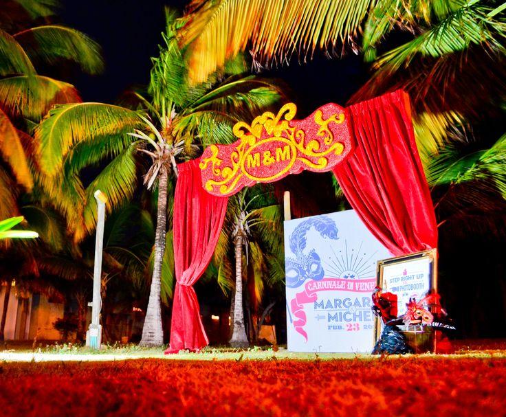 Venice carnival photo booth - Spot de fotos para los invitados inspirado en el carnaval de Venecia By MY Group Eventos