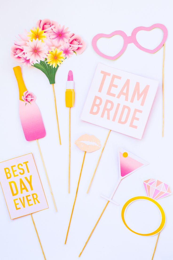 Printable Hen Party Props | Bridal Shower |Bachelorette Party | For more visit https://bespoke-bride.myshopify.com/collections/printables/products/bridal-shower-bachelorette-party-photo-booth-props-printables |