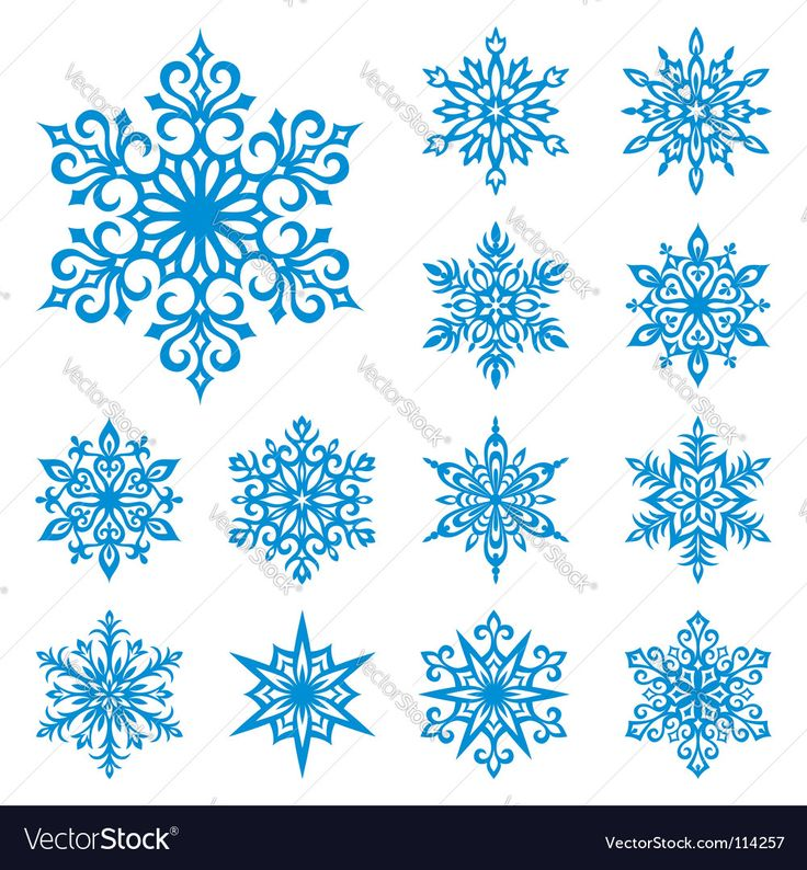Vector image of Snowflakes set Vector Image, includes snow, winter, crystal, decorative & silhouette. Illustrator (.ai), EPS, PDF and JPG image formats.