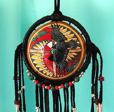 Raven Spirit and Medicine Wheel Shield  Cynthia Whitehawk - Apache