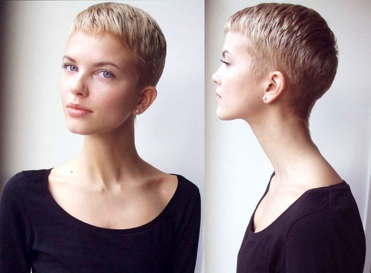 Pixie Cut With Shaved Side Home Short Hair