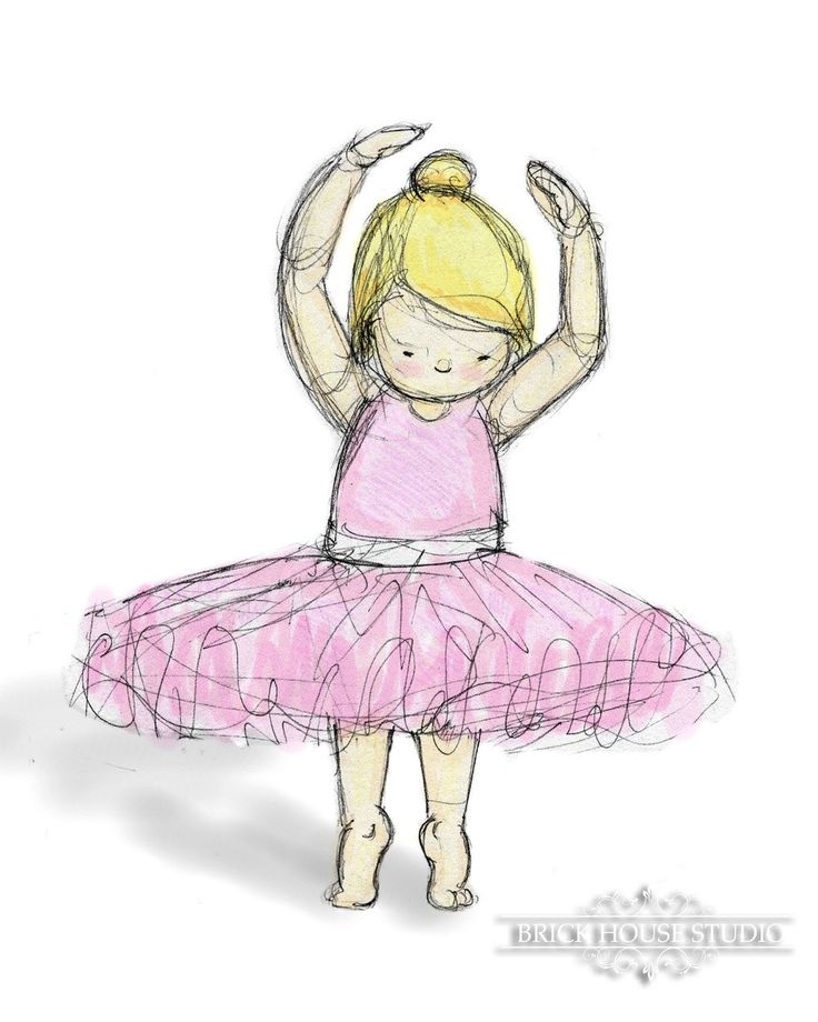 Girl's Room Art Blonde Ballerina 8x10 K's room