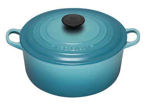 Le Creuset Enameled Cast-Iron 7-1/4-Quart Round French Oven, Caribbean Le Creuset http://www.amazon.com/dp/B000ORJFSC/ref=cm_sw_r_pi_dp_fWj0wb1HRQNHQ